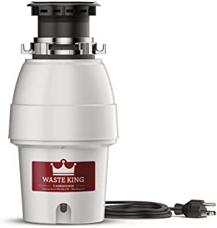 Waste King Legend Series 1/2 HP Continuous Feed Garbage Disposal with Power Cord – (L-2600)