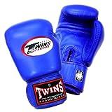 Twins ボクシンググローブ 本革製 16オンス ブルー
