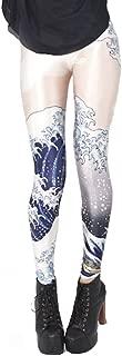 QZUnique Women's Geometrical Pattern Digital Print Shaping Breathable Leggings
