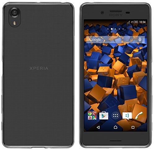 mumbi Hülle kompatibel mit Sony Xperia X Performance Handy Hülle Handyhülle dünn, transparent schwarz