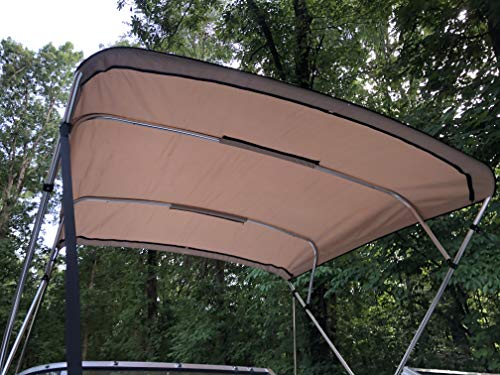 Replacement Bimini Top Canvas with Boot, Beige, 8' x 8', 16oz, by Cypress Rowe Outfitters