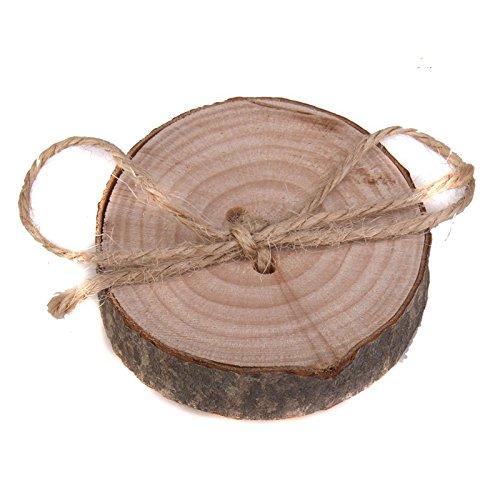 MeterMall Nieuw voor Bruiloft Natuurlijke Houten Vinger Ring Kussen Rustieke Landelijke Ring Engagement Ring Bearer Houten Pallet