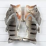 NISHIWOD Zapatillas Casa Chanclas Sandalias Moda Mujer Chanclas Unisex Amantes Zapatillas Dama Suave Zuecos Diseño De Pescado Eva Zapatos Planos Tallas Grandes 11 Gris