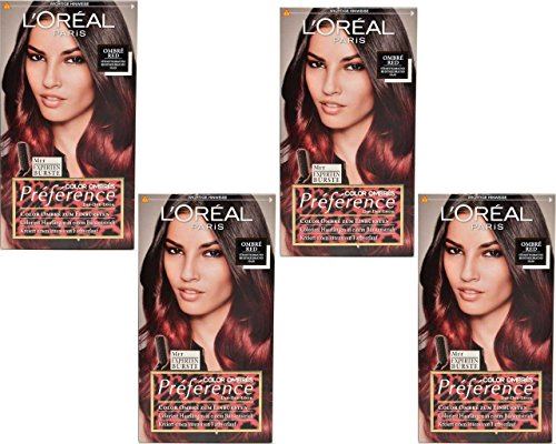 Loreal L´Oréal Paris PRÉFÉRENCE COLOR OMBRÉS COLOR OMBRÉ RED 4 Packungen