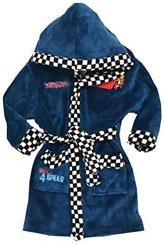 Disney Cars Bademantel Kimono Gürtel Kapuze Morgenmantel Speed dunkelblau (116)