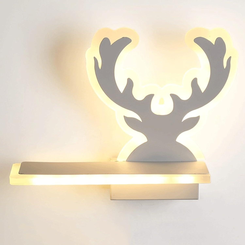 WXH-Wandbeleuchtu Moderne minimalistische Schlafzimmer Nachttischlampe Treppenhaus Gang kreative Wohnzimmer Wand Hintergrund Wand Lampe (Farbe   C-Warm Weiß)