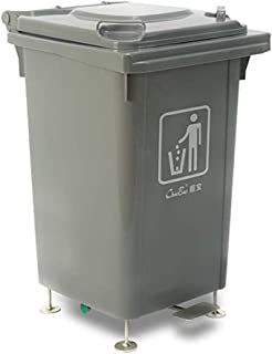 ZXJshyp Eco Waste Trash Can Wheeled Thicken Trash Can Large Outdoor Sanitation Flap Hotel Four Wheels Removable Covered Pe...