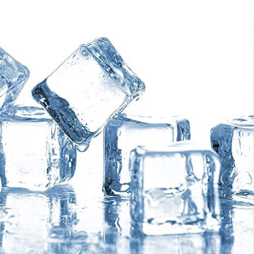 Klare gefälschte Eiswürfel Kunststoff Eiswürfel Acryl Klares EIS Rock Diamond Crystals Square Gefälschte Eiswürfel Mini-Größe Perfekt für Fotografie Requisiten, Vase Füllstoffe 20 Stück