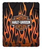 Harley-Davidson Orange Flames Fleece Throw