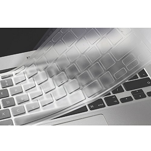 Se7enline Clear Macbook Keyboard Cover Silicone Skin Protector (EU/UK Layout) for MacBook Air 13' & MacBook Pro 13' 15' 17 with/without Retina Display (Not fit 2016/2017/2018 Macbook Pro), Transparent