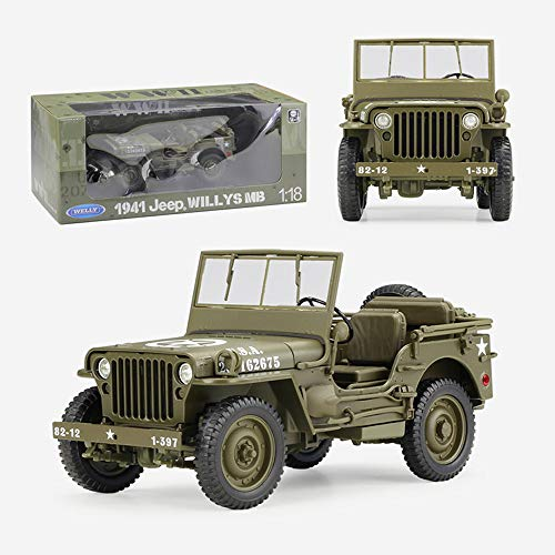 Weaston Military Willis vehicle 1:18 Alloy Model Car Metal Die-casting Car For Boys Kids Teens And Toddler Xmas Gifts Adult Collection Ornaments Decorations