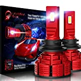 LIGHTENING DARK H11 H8 H9 led headlight bulb, 16000 Lumens Extremely Bright Nucleus Pro Conversion Kit - 6500K Cool White, Adjustable Beam