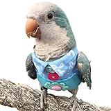 HEZHUO Traje de vuelo para pájaros, loros, ropa para pájaros, piloto, ropa con forro impermeable para mascotas, pájaros, guacamayos, cacatúas (2XL)