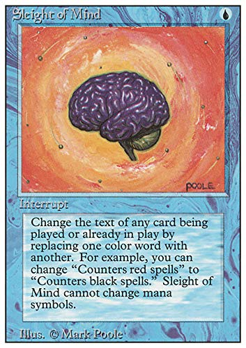 Magic: the Gathering - Slight of Mind - Revised Edition by Magic the Gathering