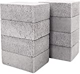 8 Pack Grill Griddle Cleaning Brick Block Pumice Stones for Removing BBQ Grills, Racks, Flat Top Cookers, Pool