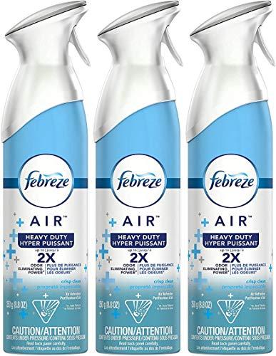 Febreze Air Freshener Spray - Heavy Duty - Up to 2X Odor Eliminating Power - Net Wt. 8.8 OZ (250 g) Per Bottle - Pack of 3 Bottles
