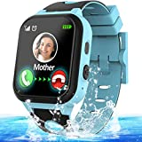Kids Waterproof Smart Phone Watch GPS Tracker for 3-12 Year Girls Boys Two-Way Call SOS Camera Games Swim Camp Activity Tracker Electronic Learning Toy Holiday Xmas Birthday Gifts