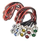 H HILABEE 10* LED Luz Indicadora de Advertencia 1.8 W de Carcasa Metal y Plastico ABS de Colores Brillantes para Marca el Perfil de Vehiculos