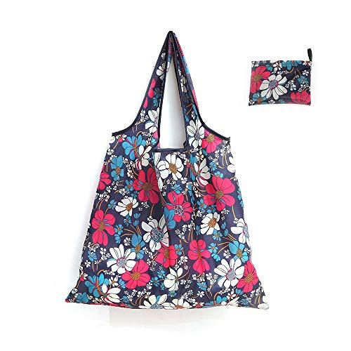 Rosepoem Wiederverwendbare Einkaufstasche, umweltfreundlich, faltbar, groß, strapazierfähig, waschbar, XC-1