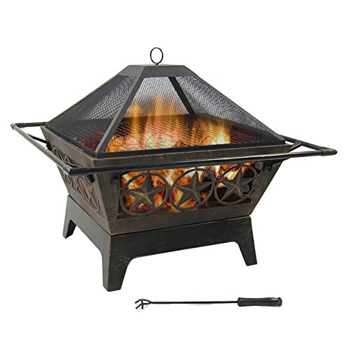 32-Inch Northern Galaxy Backyard Wood Burning Outdoor Fire Pit by Sunnydaze