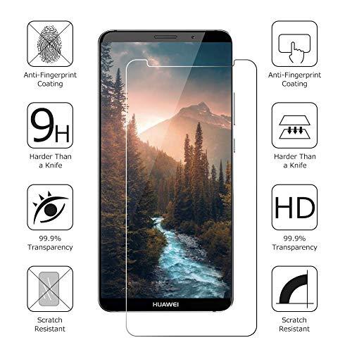 POOPHUNS Panzerglas Schutzfolie für Huawei Mate 10 Pro, [2 Stück] 9H Härte Panzerglas Folie [kompatibel 3D-Touch] [Blasenfreie] [Anti-Kratzen] [Anti-Öl] Displayschutzfolie für Huawei Mate 10 Pro - 2