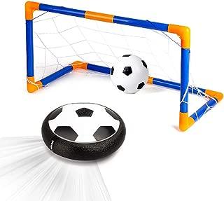 Xplanet Hover Ball Soccer Ball Indoor Kids Toys LED Hover Ball Set 2 Goals, Air Soccer Disk Foam Bumper Indoor Games, Soccer Toys 1 2 3 4 5 6 7 8 9 10 11 12 Year Old Boys Girls Best Gift