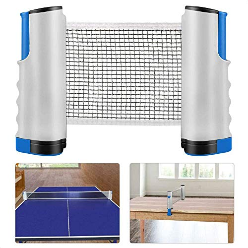 Fantastic Deal! SMW Anywhere Retractable Table Tennis Net & Post Portabe Replacement Ping Pong Net