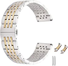 Super Curved End Solid Stainless Steel Watch Band Replacement Bracelet Straight End
