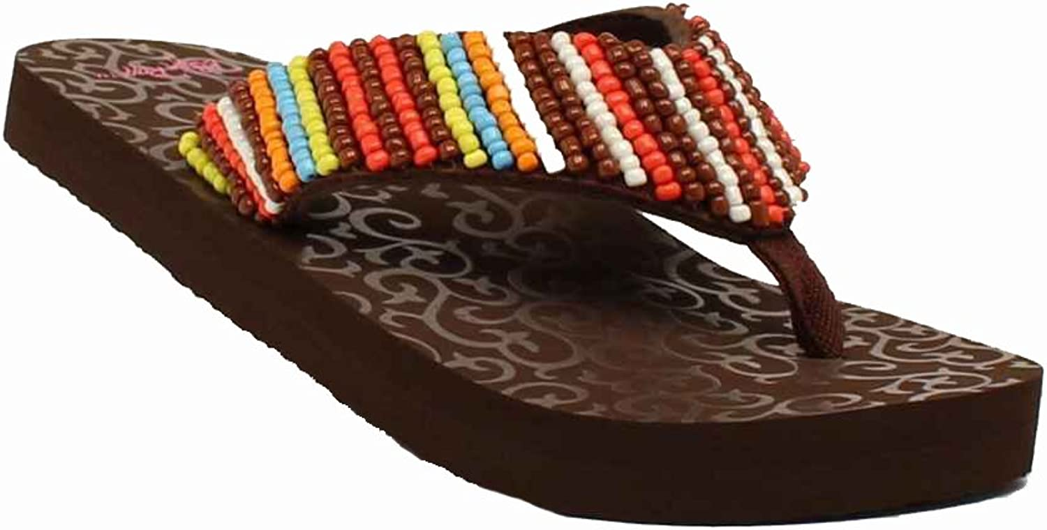 Blazin Roxx shoes Womens Marlee Flip Flops 5 B Multi-color 4115897