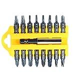 ILS–17pz 1/4hexagonal u/y/Triángulo/Phillips/Pozidriv Destornillador Set con soporte magnético