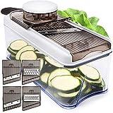 Adjustable Mandoline Slicer Vegetable Slicer - Potato Slicer Veggie Slicer 5 Blades - Vegetable Cutter Slicers...