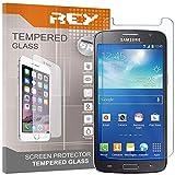 REY 3X Protector de Pantalla para Samsung Galaxy Grand Neo Plus, Cristal Vidrio Templado Premium