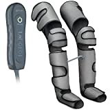 Air Compression Leg Massager for Circulation & Relaxation for Home Use Massage Legs, Calf, Foot, Thighs, Knees Battery Powered SCD Boot for Restless Leg, Muscle Pain with Controller - Dark Grey, Small