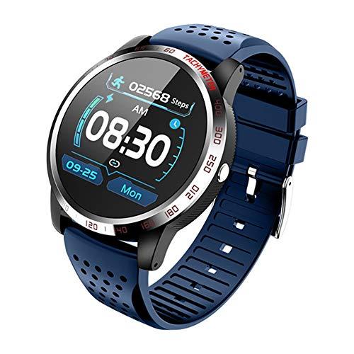 2 unidades de reloj inteligente, 1.3 pulgadas IP67 impermeable pantalla táctil Monitor de salud reloj de pulsera con monitor de ritmo cardíaco/presión arterial, para iOS y Android (negro, verde)