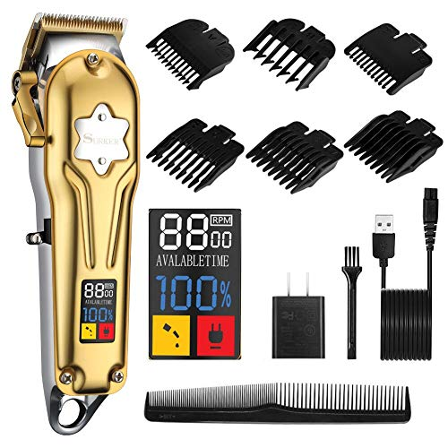 SURKER Hair Clippers For Men Professional Cordless Clippers Hair Trimmer Hair Cutting Beard Trimmer Barbers Body Grooming Kit Rechargeable