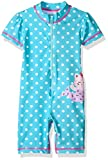 KIKO & MAX Girls' Baby Full Body Rash Guard Swim Suit Coverall Bodysuit, Blue Mermaid, 12M