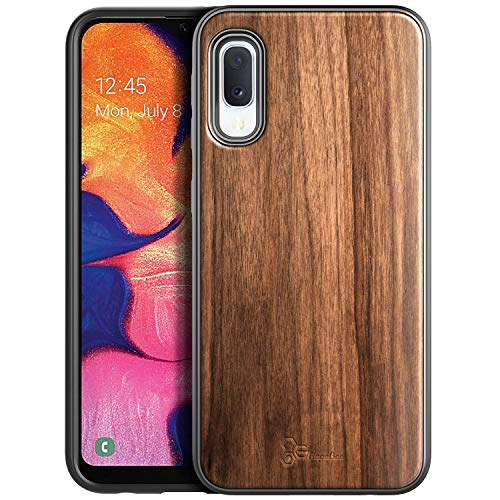 NageBee Case for Samsung Galaxy A10E, [Real Natural Walnut Wood], Ultra Slim Protective Bumper Shockproof Phone Case (Every Piece is Unique) -Wood