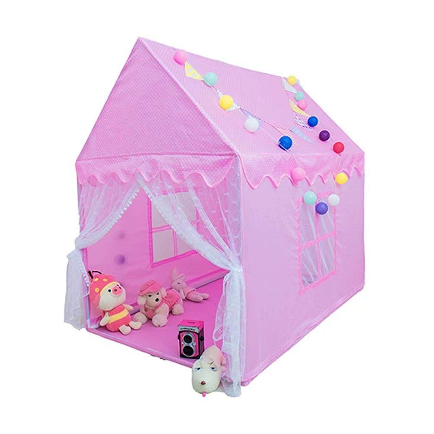 モーター雨支店キッズテント 子供用テント 知育玩具 おままごと プレイハウス スターライト付き 秘密基地 誕生日?クリスマスプレゼント