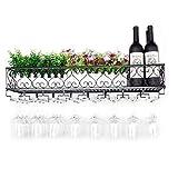 N\C ZSCC - Estante de almacenamiento para vino y champán de metal para colgar botellas de vino o botellas de vino