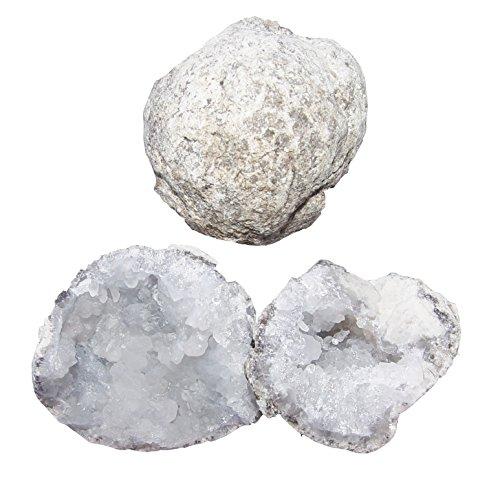 Preisvergleich Produktbild Quarz Geode geschlossen das älteste Überraschungsei aus der Tiefe unserer Erde ca. 35 - 40 mm.(3752)