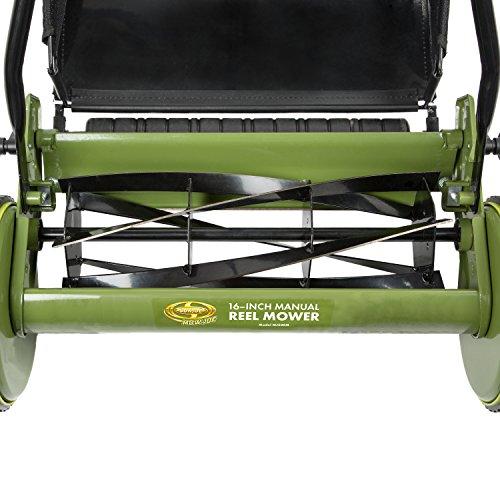 Snow Joe MJ500M 16 inch Manual Reel Mower w/Grass Catcher, 24.5