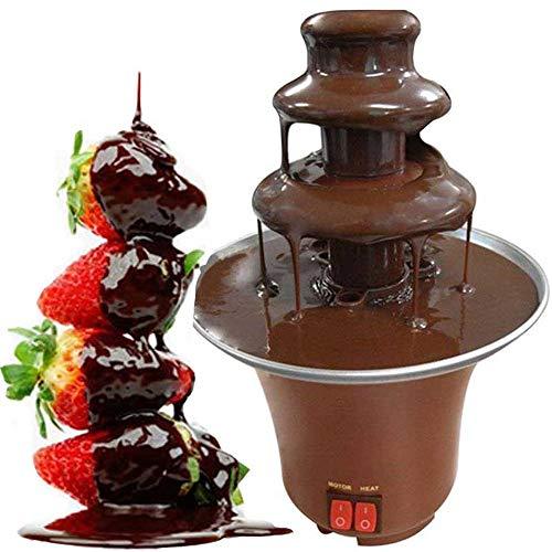 ZPF Fontana per fonduta di Cioccolato da 10 Once, 300 g di capacità, Facile da Montare 3 Livelli, Perfetto per Formaggio Nacho, Salsa Barbecue, Ranch, liquori, 220v
