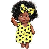 ZHTY Simulación Baby Play Muñecas, Muñecas de Juguete de Silicona Lifelike Afroamericano Black Reborn Baby Muñecas Bebé Soft Toy Niños Vacaciones Regalo de cumpleaños Song