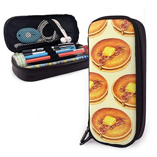 Estuche de piel sintética de gran calidad, con doble cremallera, para material de oficina, bolsa de viaje (ciervo y seta, color Delicious Donut talla única