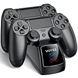 PS4 Controller Charging Station, VOYEE Controller Charger Compatible with PS4 Playstation 4, Fast Charging Dock Station with LED Indicator & Charging Protection - Black