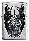 ZIPPO Encendedor Odin W/Raven, Color Image, Cromado Cepillado, Recargable, en Caja de Regalo