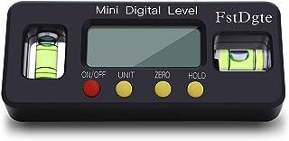 FstDgte デジタルレベル 電子水平器 デジタル角度計 傾斜計 LCD液晶画面 【ボタン電池付き 日本語説明書付き 1年保証】(100mm)
