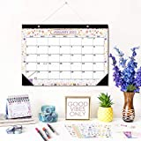 2021 Calendar, 12 Months Wall Calendar of 2021, Ruled Blocks and Notes, Monthly Planner, Tear of Pages, Month-to-View Calendar for Home or Office (Flower)