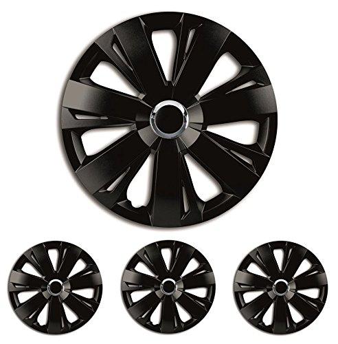 Vloermatten-Deluxe wieldoppen wieldoppen wieldoppen 4 stuks zwart 16 inch 16