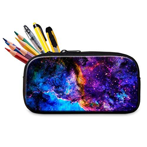 Dispalang School Pencil Case Galaxy Pencil Bag for Students Adult Office Pen Bag Zipper Pencil Box
